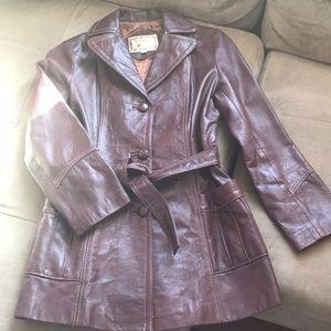 Jackets & Blazers - Vintage leather jacket!!!!